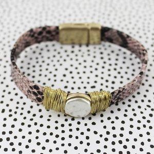 Jewelry - Snake skin print bracelet